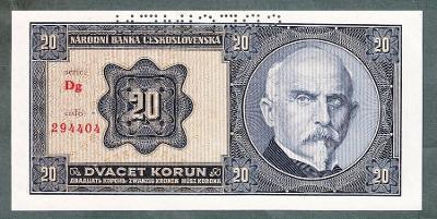20 korun 1926 serie DG perf. stav UNC
