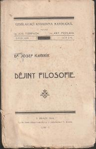 Josef Kachník: Dějiny filosofie, nakl. V. Kotrba, 1904, sešity 2. + 3.