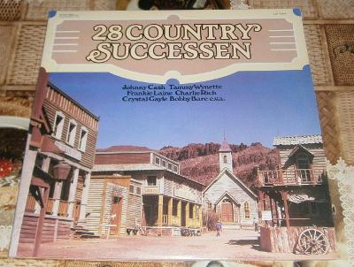 LP - 28 Country Successen (2LP) (Johnny Cash,Robbins atd..)/Perf.stav!