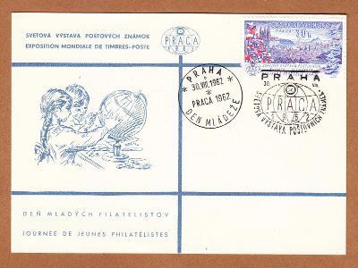 Celina ke Světové výstavě poštovních známek - PRAGA 1962