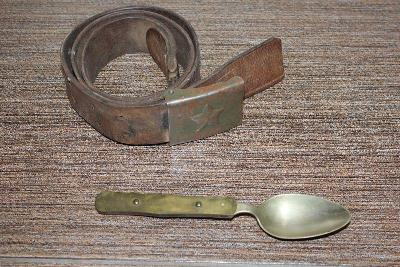 Vojenský opasek + Skladací Lžíce č.13w
