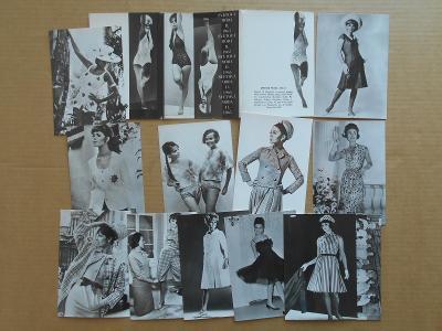 ŽENA MODA - SVĚTOVÁ MODA 1965 fotopohled / 12 KS hezký stav - obal