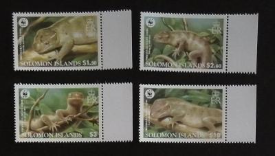 Šalamounovy ostrovy 2005 Mi.1282-5 5,5€ Ještěři, ochrana přírody,fauna