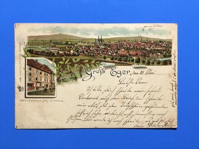 GRUSS AUS EGER .CHEB. 1897. ÍTOGRAFÍE.