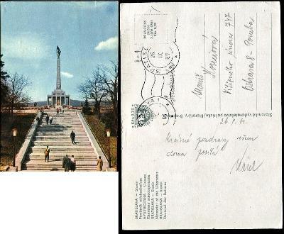 43 SR BA BRATISLAVA Slavín vojenský památník soviet. vojaci lidé 1961