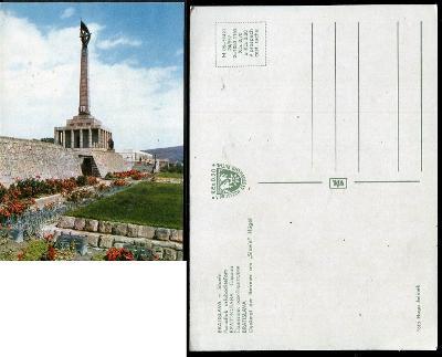 44 SR BA BRATISLAVA Slavín vojenský památník sov. voj. lidé květy 1965