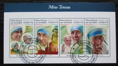 Guinea 2018 Matka Tereza Mi# 13005-08 Kat 20€ 2231