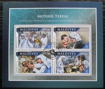 Maledivy 2016 Matka Tereza Mi# 6741-44 Kat 11€ 2232