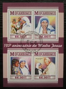 Mosambik 2015 Matka Tereza Mi# 8104-07 Kat 15€ 2232
