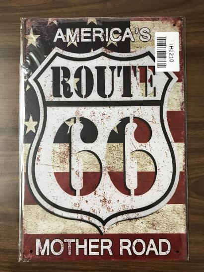 Retro reklamní cedule-Route 66 - Starožitnosti
