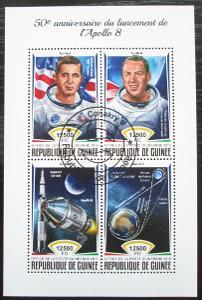 Guinea 2018 Průzkum Měsíce, Apollo 8 Mi# 13145-48 Kat 20€ 2233