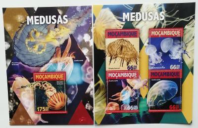 Mozambik 2016 Mi.8369-2+Bl.1114 25€ - Medúzy, mořská fauna