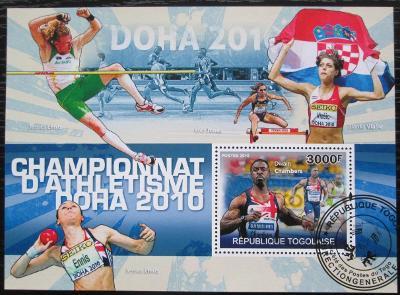 Togo 2010 Lehká atletika Mi# Block 545 Kat 12€ 2234
