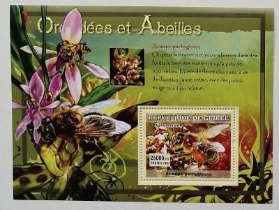 Guinea 2007 Bl.1181 7€ - Včely a medonosný hmyz, fauna, orchideje