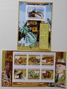 Guinea 2010 Mi.7811-6Bl.1868 22€ Čínský rok hada, hadi, Baden-Powell