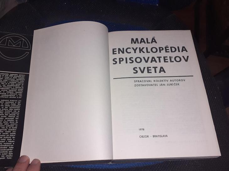 Ján Juríček - Malá encyklopédia spisovateľov sveta 1978 - Knihy