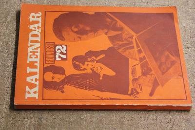 STARÁ KNIHA KALENDÁŘ   ROK 1972