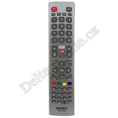 Dálkový ovladač pro Sharp Aquos RM-L1589 s tlačítkem Netflix, Youtube