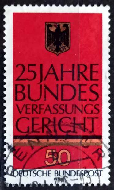 BUNDESPOST: MiNr.879 German Eagle 50pf 1976