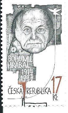 Bohumil Hrabal  2014, raž. zn. sm. s raz. FDC, NL. k.č. 802.