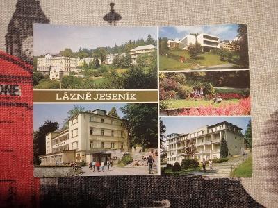 Pohlednice - Lázně Jeseník, prošla poštou