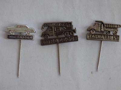 3x origo automobilové odznaky-Tatra ABO63, Tatra 138 S1, Škoda 1964