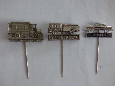 3x origo automobilové odznaky-Škoda 1964, Škoda ASC16, Škoda LK 1908