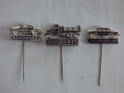 3x origo automobilové odznaky-Škoda 1962, Škoda 1964, Praga V35