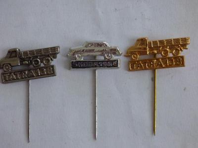 3x origo automobilové odznaky-Škoda 1964, Tatra 138, Tatra 138(jiná ba