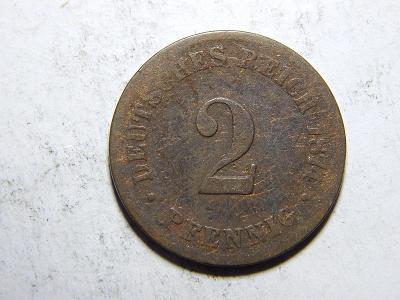 Německo Císařství 2 Pfennig 1874A F č29273