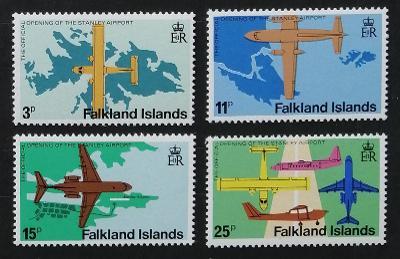 Falklandské ostrovy 1979 5€ Otevření Stanleyho letiště, letadla