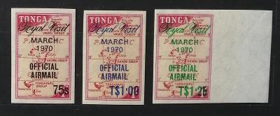 Tonga 1971 24€ Návštěva královny Alžběty II. - ÚŘEDNÍ