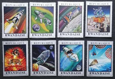 Rwanda 1970 Mi.414-1 5€ Mise Apollo 13, vesmír a kosmos, rakety