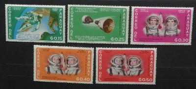 Paraguay 1966 Mi.1503-7 Vesmír a astronauti, nekompl.