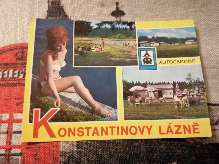 Pohlednice - Konstantinovy Lázně, prošla poštou  - Pohlednice