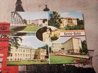 Pohlednice - Karviná, Darkov, prošla poštou