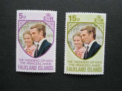 Britská kolonie:   Falkland Islands     Mi   220 - 221
