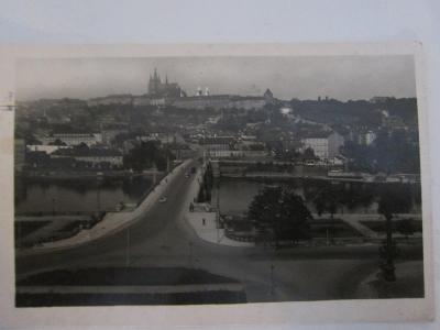 Pohled Praha Hradčany 1942/ V. Ćermák-Smíchov