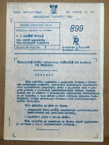 VYHLÁŠKA UIC 899 1963 ŠTATISTICKÉ METÓDY VZORKOVANIA ČSD VLAK VAGON