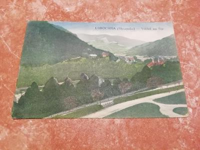 Stará pohlednice Lubochňa (Slovensko) - vihled na sip ( Holubice)