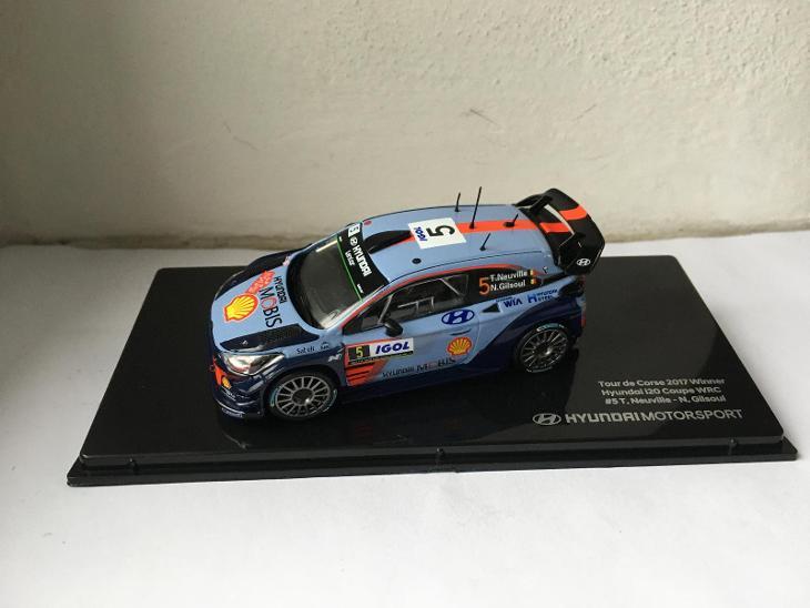 IXO 1/43 HYUNDAI MOTORSPORT i20 COUPE WRC VÍTĚZ TOURDECORS´17 NEUVILLE - Modelářství