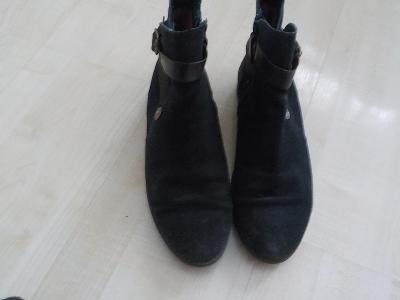 Tommy Hilfiger boty vel 39 oteplene kožene