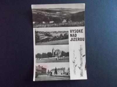 Liberec Semily Vysoké nad Jizerou koláž zima sníh