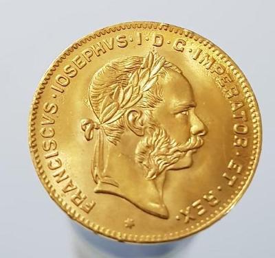 zlatý 4 zlatník 1892 b.z, 100% stav 0/0 krásný
