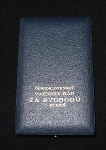 Čs ETUE na medaile vyznamenání ČSR Řád za Svobodu I.stupeň + 2x stužka