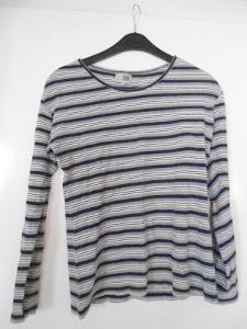 pěkné modré pruhované tričko Snap