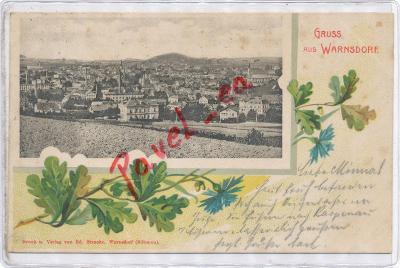 Varnsdorf 1900 koláž Šluknov Nový Bor Chřibská Děčín 3012