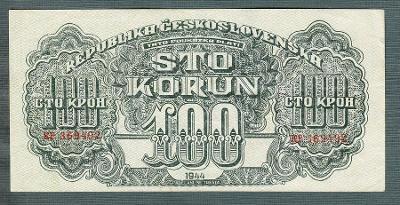 100 korun 1944 serie KP NEPERFOROVANA