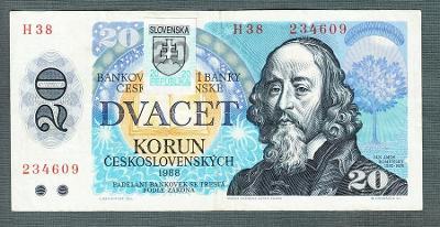 20 kčs 1988 serie H38 KOLEK