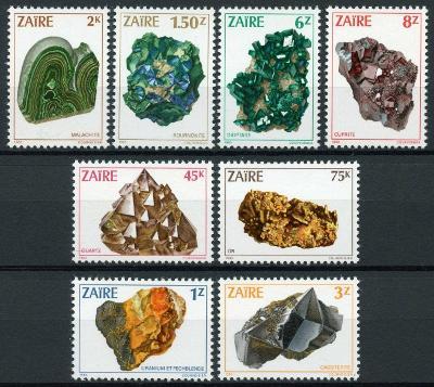 Zair (Kongo) 1983 Mi.904-0 20€ Africké minerály, horniny a nerosty